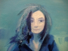 Closeup of Rachel's painted face